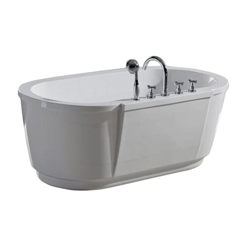 "Aquatica PureScape 63"" x 32"" Freestanding Acrylic Bathtub"