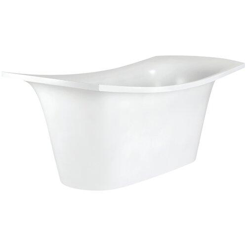 "Aquatica LoveMe 71"" x 34"" Freestanding EcoMarmor Slipper Tub"