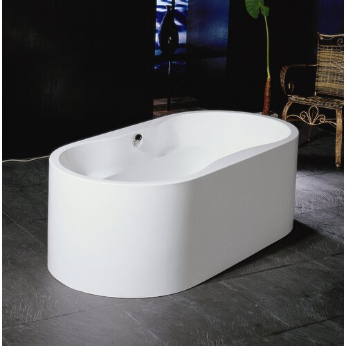 "Aquatica PureScape 59"" x 32"" Freestanding Acrylic Bathtub"