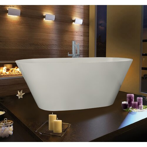 "Aquatica PureScape 68"" x 28"" Freestanding AquaStone Bathtub"