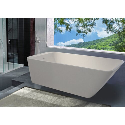 "Aquatica PureScape 67"" x 30"" Freestanding AquaStone Bathtub"