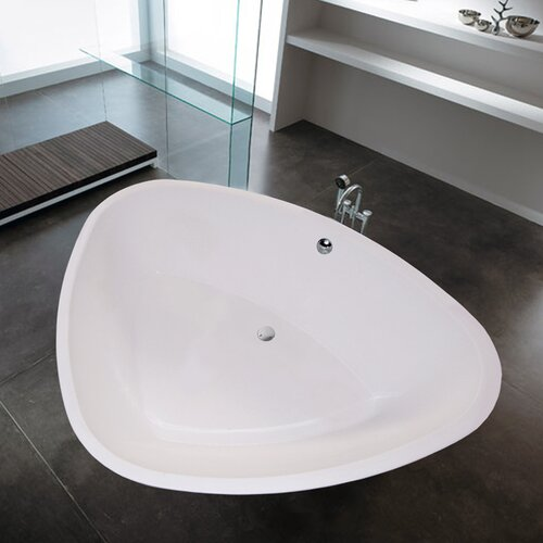 "Aquatica PureScape 74"" x 59"" Freestanding Acrylic Bathtub"