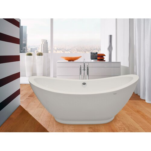 "Aquatica PureScape 65"" x 30"" Freestanding Acrylic Slipper Tub"