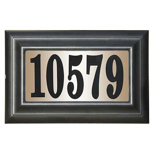 Edgewood Class Lighted Address Plaque