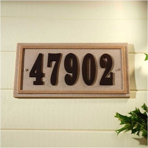 Qualarc Ridge Rectangle Address Plaque