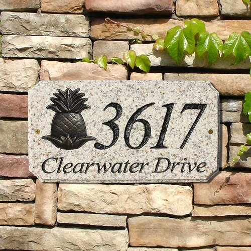 Pineapple Emblem Address Plaque