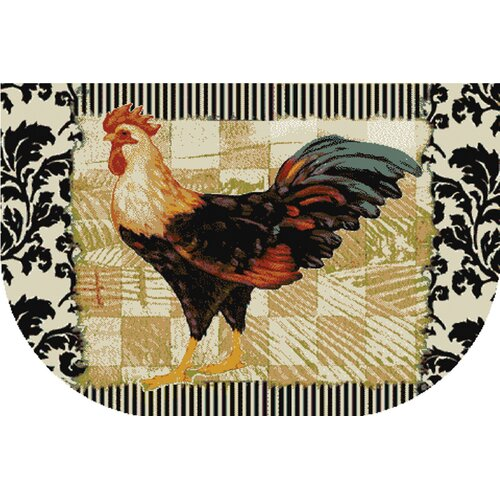 Mohawk Home New Wave Kitchen Bergerac Rooster Novelty Rug