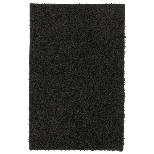 Super Texture Shag Black Solid Rug
