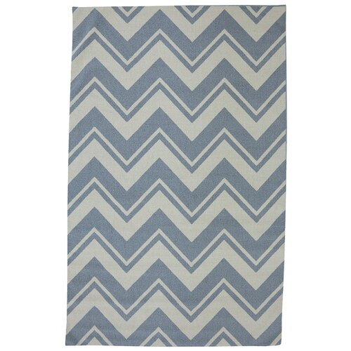 Mohawk Home Outdoor/Patio Blue Pool Zig Zag Rug