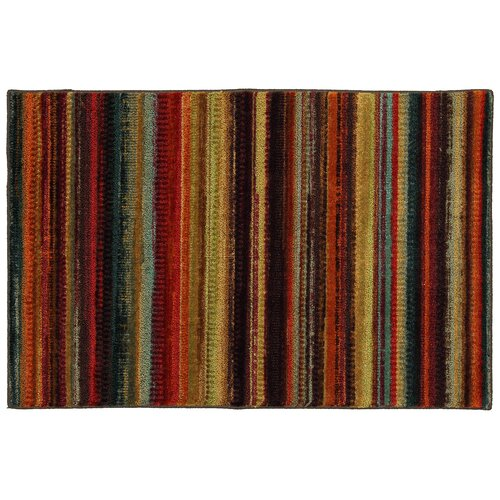 Mohawk Home Canvas Multi Boho Stripe Rug