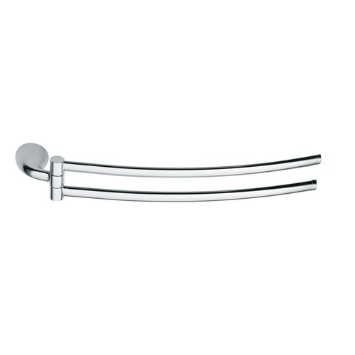 Hinged Towel Bars : Lulay wall mounted hinged double towel bar wayfair