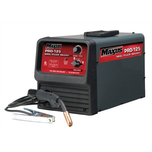 Maxus 120V Flux Core Welder 125A with Wire and 2 Extra Nozzles