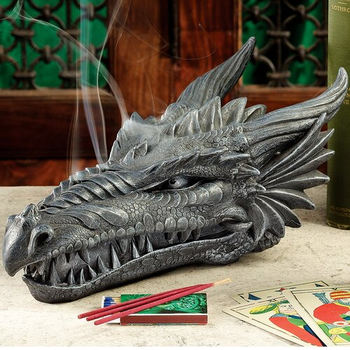 Stryker the Smoking Dragon Incense Box Sculpture