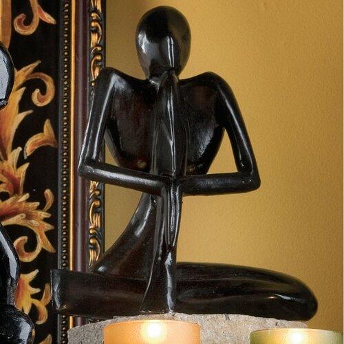 Design Toscano Authentic Foundry Iron Balinese Yogi Meditation Figurine