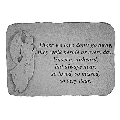 Design Toscano Unseen, Unheard, but Always Near...Angel Memorial Garden Marker Stepping Stone