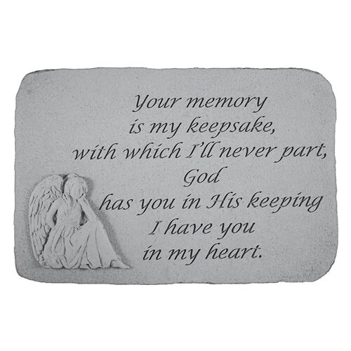 Design Toscano Your Memory is my Keepsake...Angel Memorial Garden Marker Stepping Stone