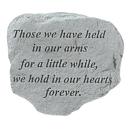 Design Toscano Held in Our Arms...Memorial Garden Marker Stepping Stone