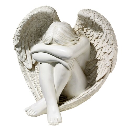 Serene Solitude Angel Statue