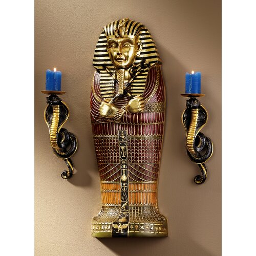 Design Toscano Sarcophagus of Egyptian King Tut Wall Décor