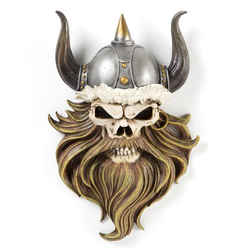 Design Toscano The Skull of Valhalla Viking Warrior Wall Décor