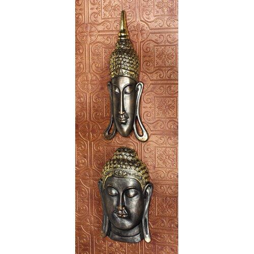 Design Toscano 2 Piece Sukhothai and Bodh Gaya Buddhas Asian Wall Décor Set