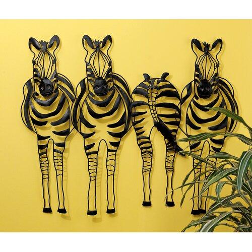 Design Toscano Static Stripes Sculptural Zebra Frieze Wall Décor