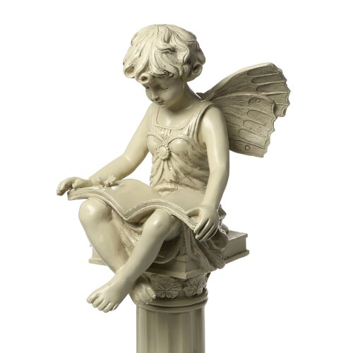 Design Toscano The British Reading Fairy Garden Statue