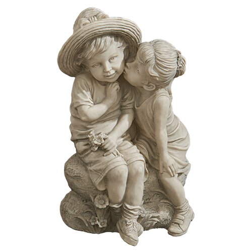Kissing Kids Boy and Girl Statue