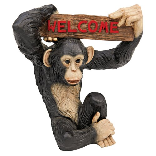 Monkey Business Jungle Welcome Statue