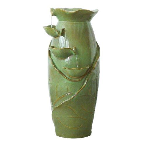 Ceramic Cascading Vines Garden Fountain