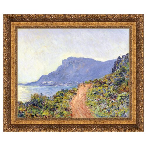 La Corniche at Monaco, 1884 Framed Original Painting
