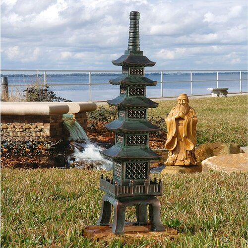 The Nara Temple Asian Garden Pagoda Statue