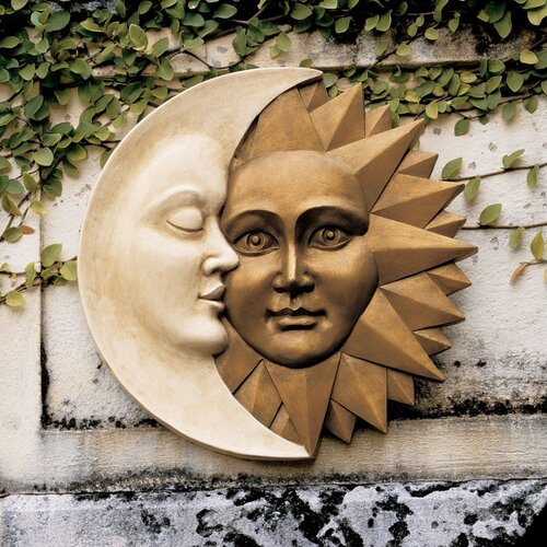 Design Toscano Celestial Harmony Sun and Moon Wall Decor