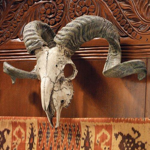 Design Toscano Corsican Ram Skull and Horns Trophy Wall Décor