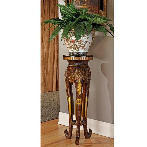 Design Toscano Majestic Elephant Pedestal Plant Stand