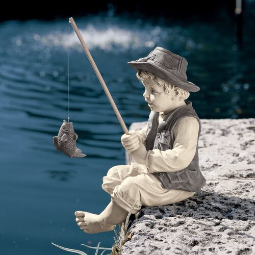 Design Toscano Frederic The Little Fisherman of Avignon Statue