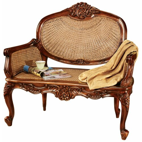 Design Toscano Chateau Marquee Mahogany Bench