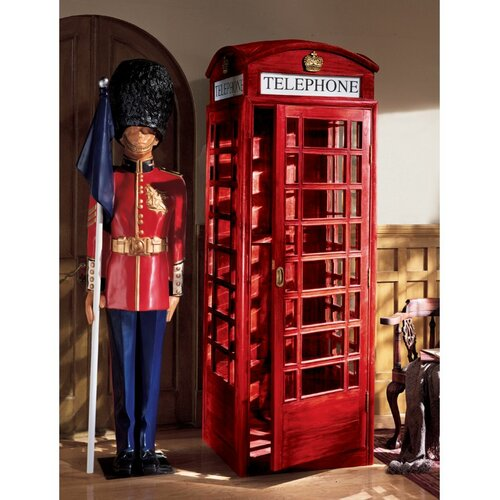 Authentic Replica British Telephone Booth Sculpture