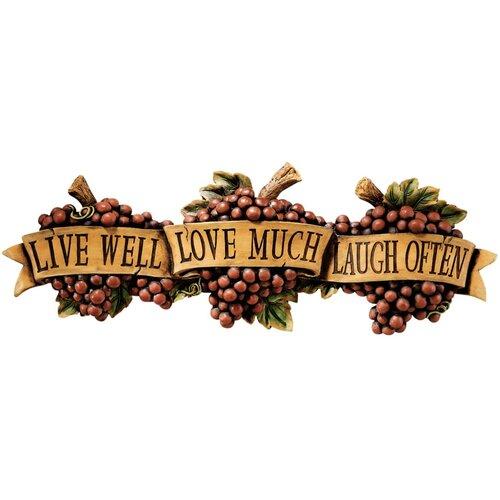 Design Toscano Live-Love-Laugh Wall Décor