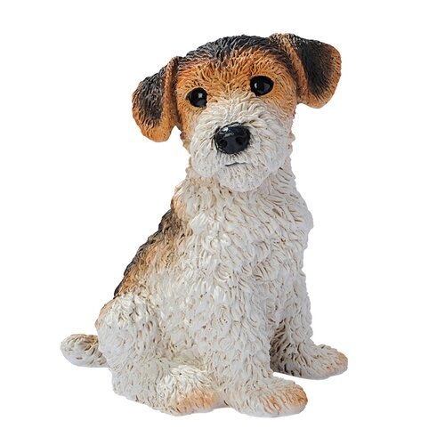 Design Toscano Fox Terrier Puppy Dog Figurine