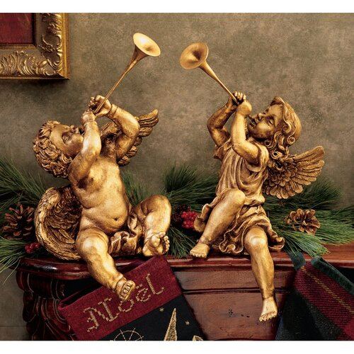 Design Toscano Trumpeting Angels of St. Peters Square Girl Statue