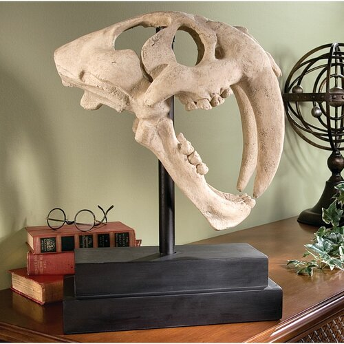 Saber-Toothed Tiger Skull Artifact Figurine