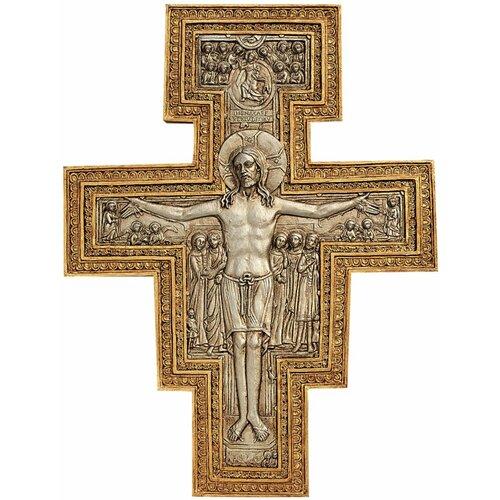 Design Toscano San Damiano Sculptural Cross Wall Décor