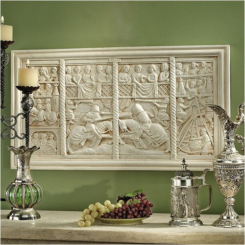 Design Toscano The Medieval Joust Sculptural Frieze Wall Décor