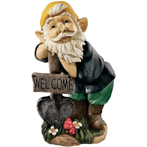 Forest Welcoming Gnome Statue