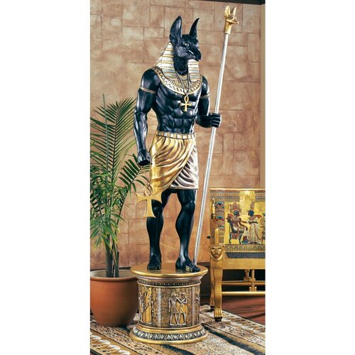 Design Toscano Grand Ruler Life-Size Anubis Figurine