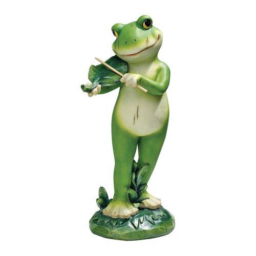 Garden Jazz Frog Musician Fiddle Frog Statue