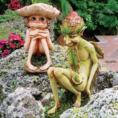 Svenska and Theodor The Garden Trolls Statues