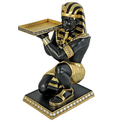 Design Toscano Egyptian Pharaoh's Kneeling Nubian Servant End Table