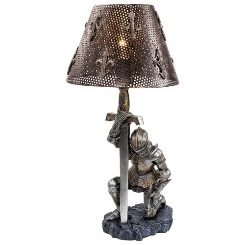 """Design Toscano At Battle's End Sculptural 22"""" H Table Lamp with Empire Shade"""